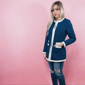 Blue and White Quilted Jacket